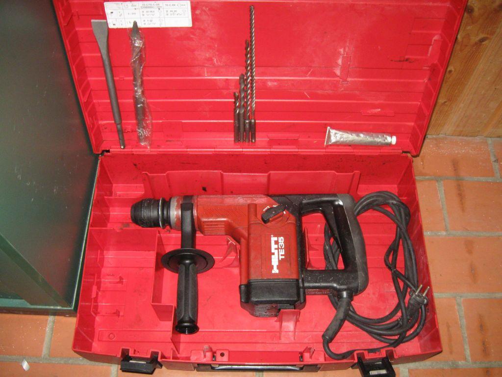 hilti bohrhammer meisselhammer te 35 evtl. mit koffer zubehör te35c